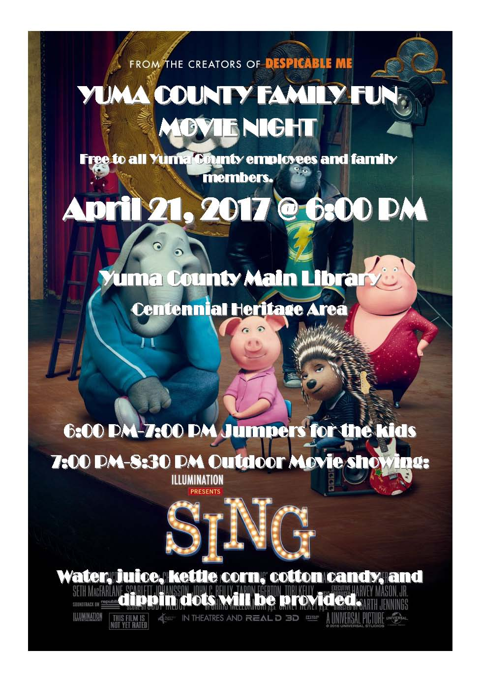 April 2017 movie night