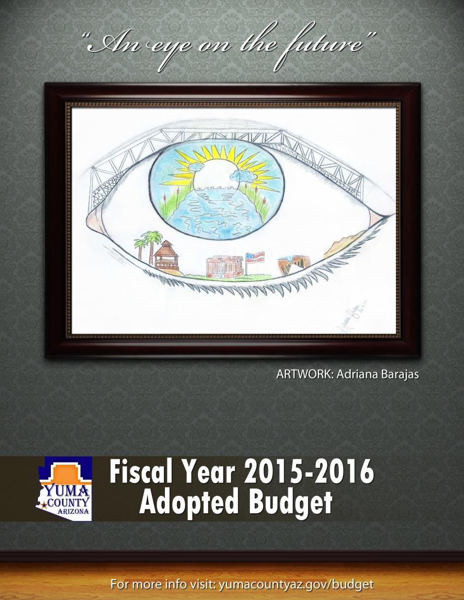 2015-2016 adopted budget cover
