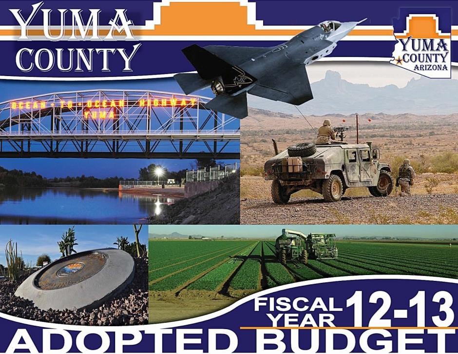 2012-13 Adopted Budget Cover